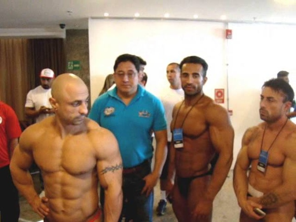 68th IFBB MENS WORLD CHAMPIONSHIPS - WEIGH IN BACKSTAGE