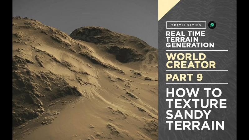 World Creator Introduction - PART 9 - Texturing A Sandy Terrain