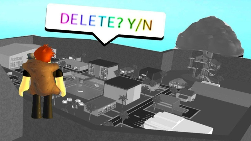 DELETING THE SERVER WITH ADMIN! (Roblox)