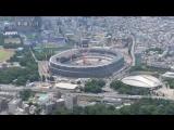 建設進む五輪施設の空撮=東京五輪あと2年
