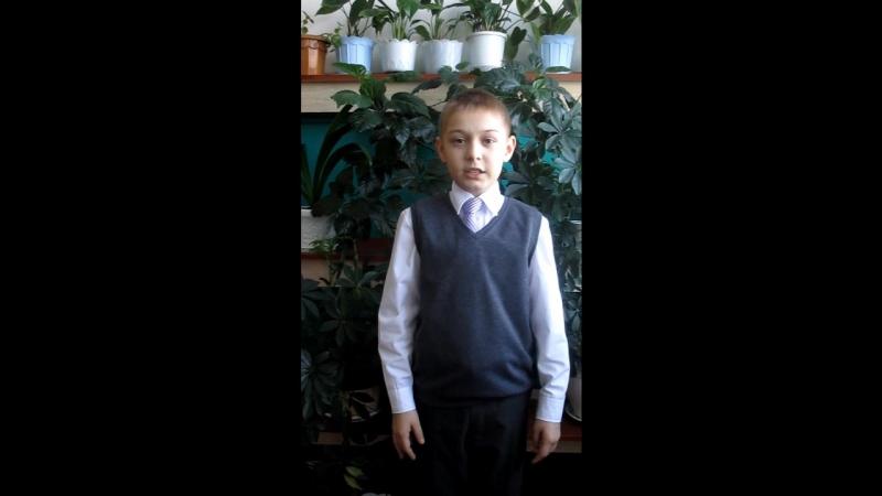 Участник акции Живая вода - Теребов Илья, ученик 4 класса СОШ №2 г. Никольска.