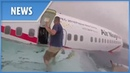 US Marines rush to plane crash to rescue survivors