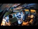 Посадка самолета из кабины пилотов