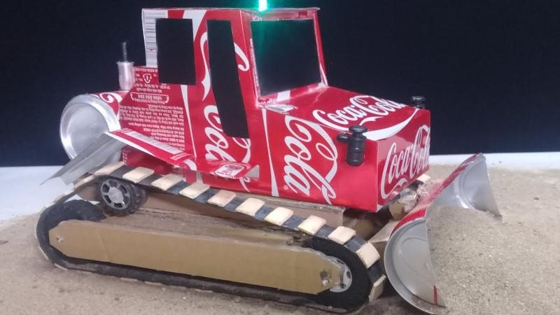 How to make a Bulldozer - DIY Amazing Coca Cola Bulldozer Toys at home
