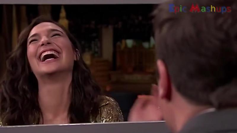 Gal Gadot Is laughing for 5 minutes 😂 [Bazinga] 5 минут смеха с Галей Гадот