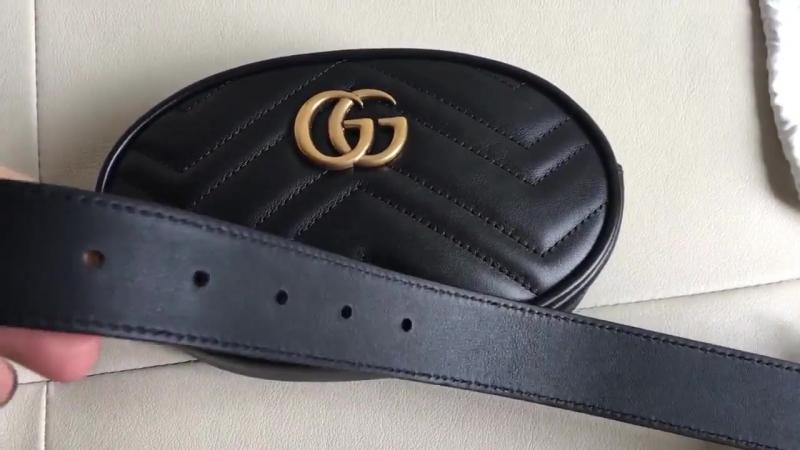 Тренд 2018 - Поясная сумочка GG Marmont