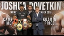 Face to Face Anthony Joshua Alexander Povetkin