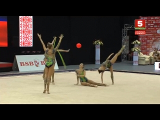 Сборная России - 3 мяча+2 скакалки (финал) // World Challenge Cup 2018, Минск