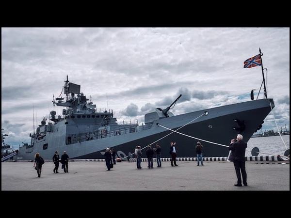 В акваторию Невы зашёл новейший фрегат Черноморского флота Адмирал Макаров