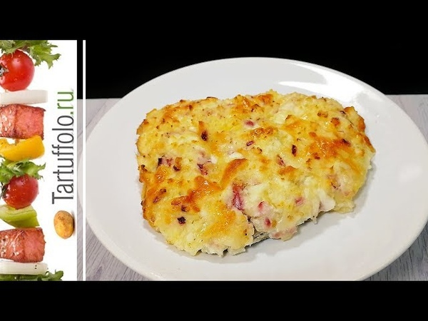 Рыба под картофельной шубой. Вкусное, сочное горячее блюдо!