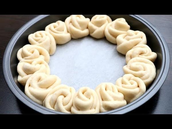 Rose Buns Recipe | Flower Bread 🌹 Super Soft Chewy Milk Bread Rolls