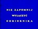 Фрагмент программы передач диктор и конец эфира TVP2 Польша 06 11 1992