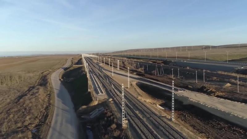 НОВИНКА Железнодорожные пролеты Крымского моста