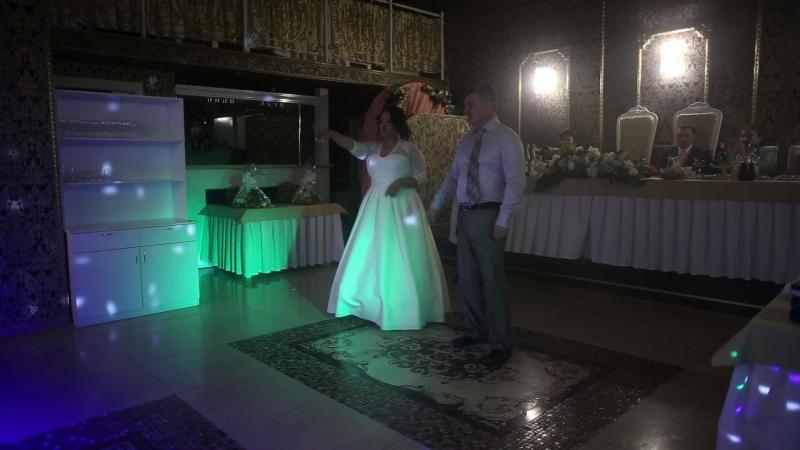 Танец отца и дочери на садьбе♥