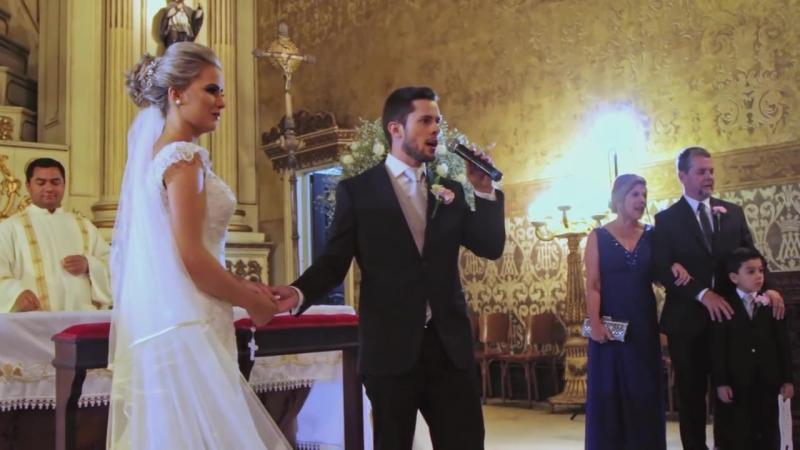 Noivo e padrinhos cantam ALELUIA (Halleluja) - Casamento Lucas Berton e Patrícia