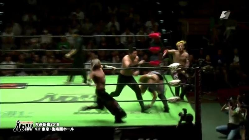 Cody Hall KAZMA SAKAMOTO Maybach Taniguchi Mitsuya Nagai vs Daisuke Harada HAYATA Tadasuke YO HEY NOAH Ark New Chapter