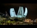 Завораживающее шоу у Marina Bay Sands, Сингапур