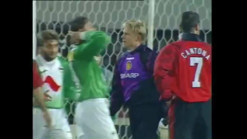 Петер Шмейхель и его роскошный сейв в матче с венским Рапидом 1996 год