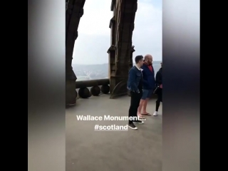 Sam visited the Wallace Monument - 15-04-2018