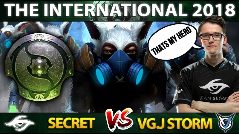 Ace Meepo GOD First Time on the Main Stage - The International 2018 - Secret vs VGJ.S - TI8 Dota 2