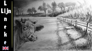 How to draw a Landscape in perspective with graphite pencils step by step