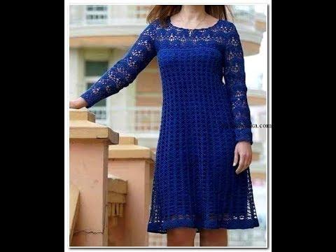 Синее платье крючком.Часть №3