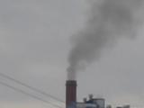 Тёмный дым из трубы ТЭЦ-5. 02.10.18