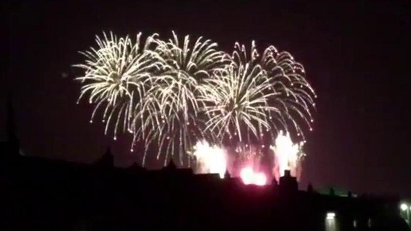 Фейерверк на свадьбе Принца Гарри и Меган Маркл в Виндзорском замке/ Harry Meghan Evening Reception Fireworks Over Frogmore House