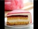 Муссовый торт в зеркальной глазури