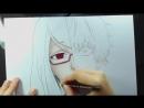 Speed Drawing Kamishiro Rize Kaneki Ken Tokyo Ghoul 2