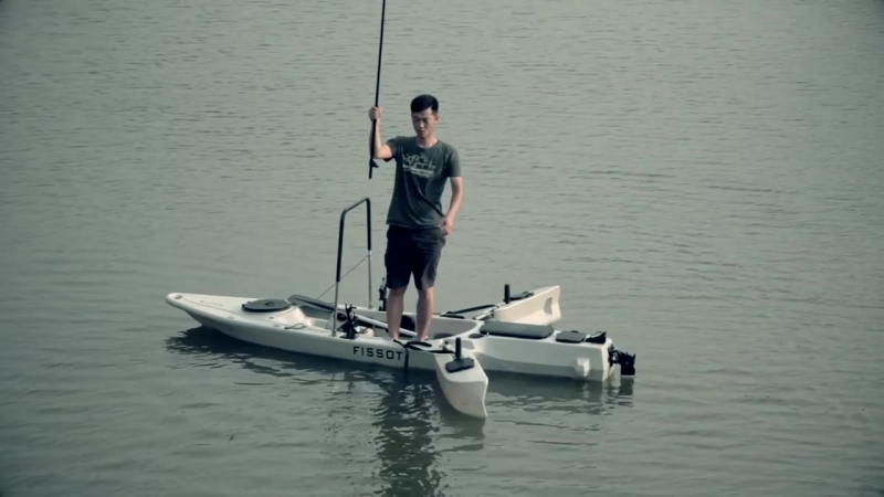 Fissot Fishing kayak with 40 bls motor by Fissot kayak