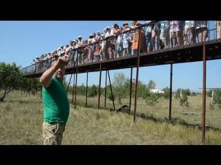 Диалог Олега Зубкова с посетителями Тайгана стоя среди львов ! Крым