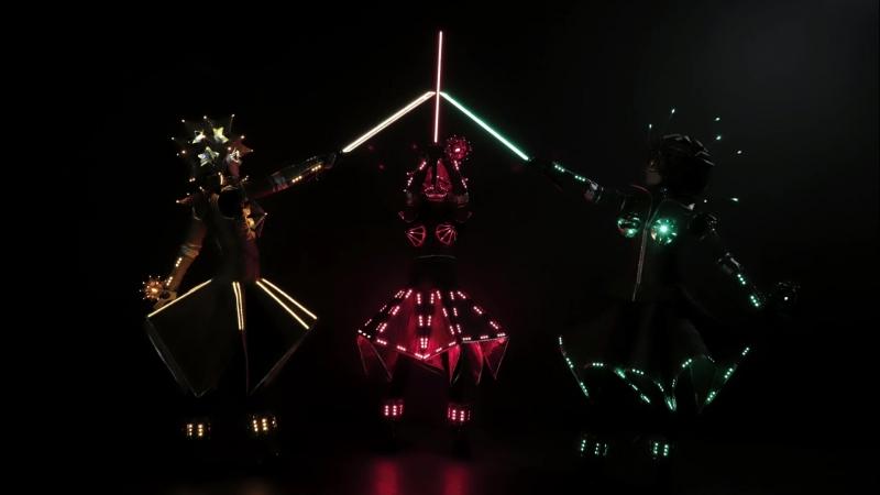 Световое шоу Светлые лица - танцевальное шоу Оригами, театрализованное представление Звуки ночи