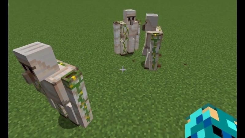 Железные големы в Minecrafte.