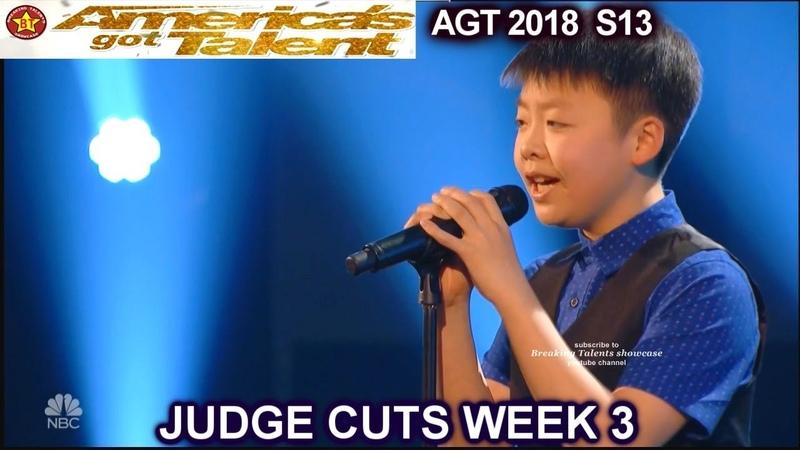 "Jeffrey Li sings ""One Moment In Time"" America's Got Talent 2018 Judge Cuts 3 AGT"