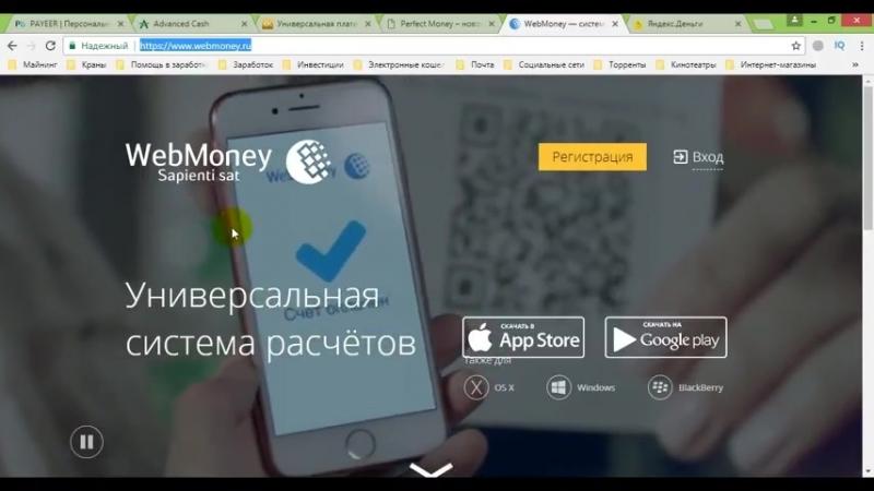 Электронный кошелек. Webmoney кошелек, яндекс деньги, advcash и т.д.