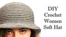 ШЛЯПА КРЮЧКОМ МК / DIY Crochet Women Soft Hat