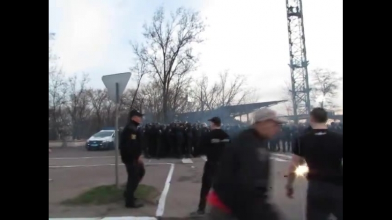 Dynamo hools clash with the police during FC Mariupol – Dynamo Kiev 01.04.2018