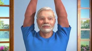 Yoga with Modi: Tadasana Hindi
