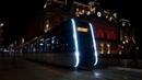 Tours tramway by night