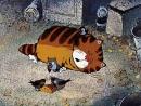 Ленивый кот.(Отрывок из мультфильма: Возвращение блудного попугая).