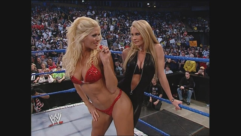 Divas Bikini Contest Torrie Wilson Sable Dawn Marie Nidia SmackDown April 24 2003