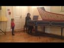 Лиса на концерте, клавесин