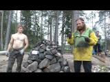 Как сложить каменку туристической бани