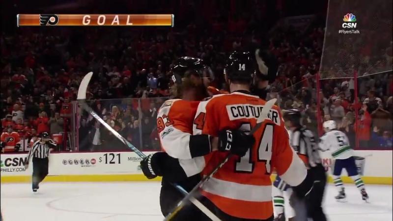 Giroux helps Flyers edge Canucks in shootout 5 4 via