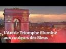 Les images de l'Arc de Triomphe et de la tour Eiffel aux couleurs des Bleus