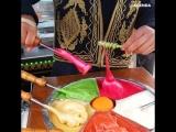 Разноцветные спиральные конфеты из Турции