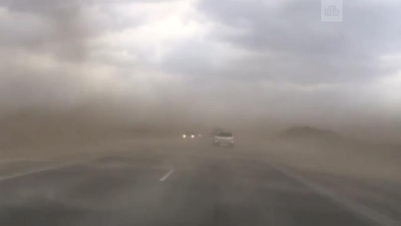 Песчаная буря в Тюмени