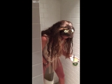 Girl on Molly pisses in urinal AT MMW Surfcomber Pool Party