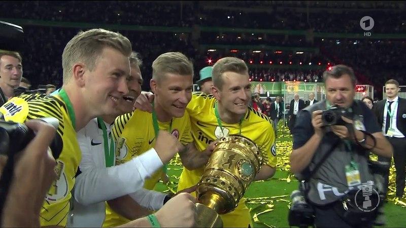 Siegerehrung DFB-Pokalfinale FC Bayern München - Eintracht Frankfurt 19.05.2018